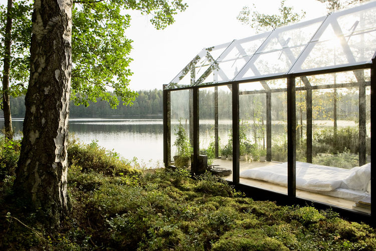 prefabricated glass greenhouse in Finland