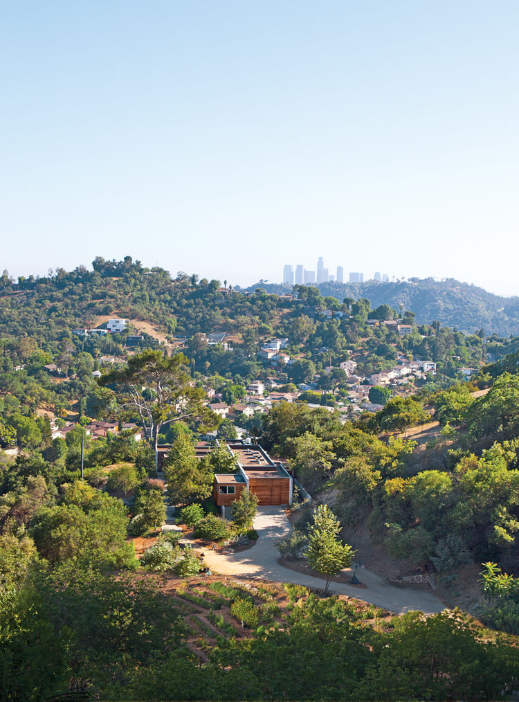 hidden house exterior aerial view, Los Angeles