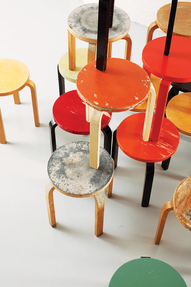 Aalto 1936 Stool 60 at Artek 2nd Cycle in Helsinki Finland