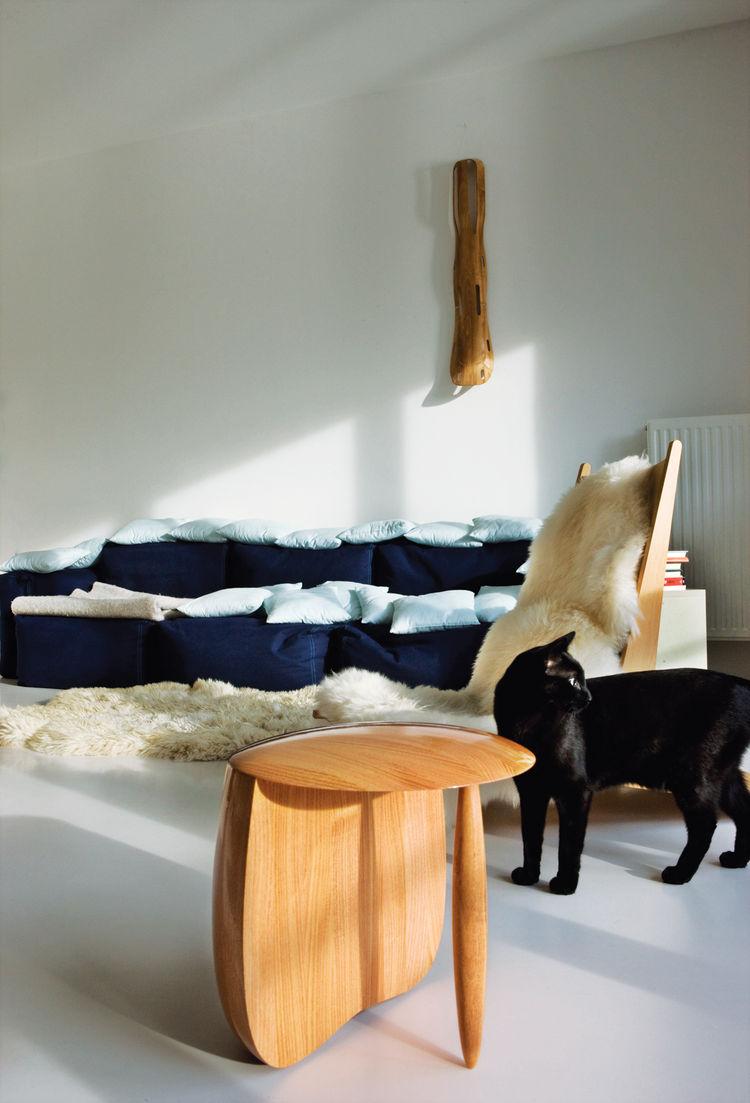 Aldo Bakker stool Eames leg splint Bentwood chairs