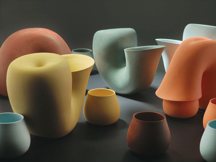 colorful Jug water carafes by Aldo Bakker