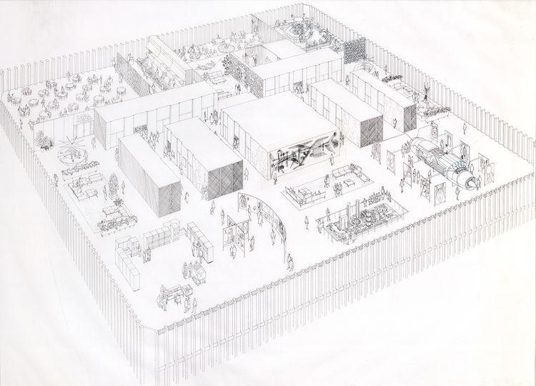 World Trade Center sketch by Carlos Diniz