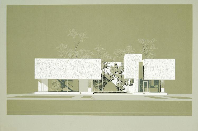 manual architectural renderings