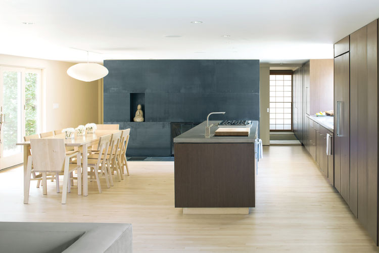 Minimalist neutral colored kitchen design