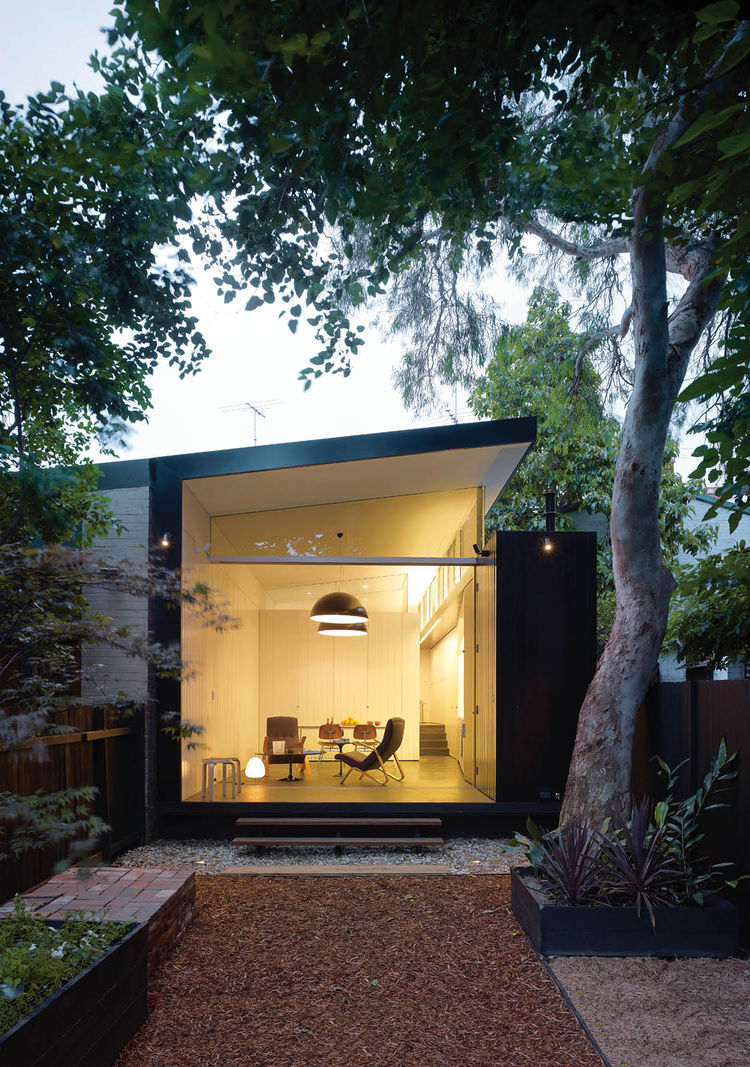 Modern home renovation 20th century facade