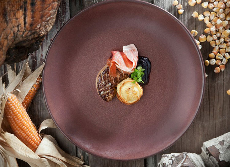 Brown Dinner Plate by Chip Burr and Fiorenzo Berardozzi