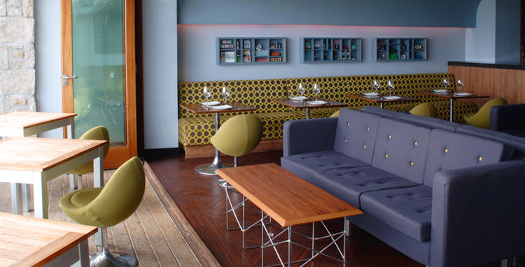 The Hub Bar and Kitchen furnished by Kathryn Tyler