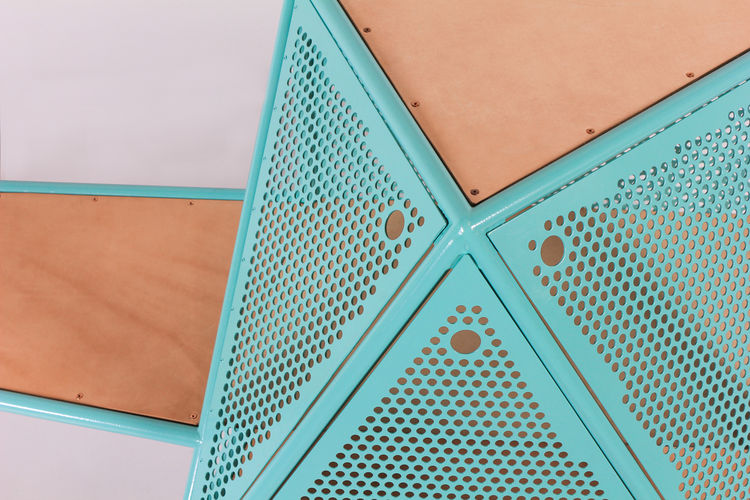Detail of Geometric Coffee Table by Max Lipsey