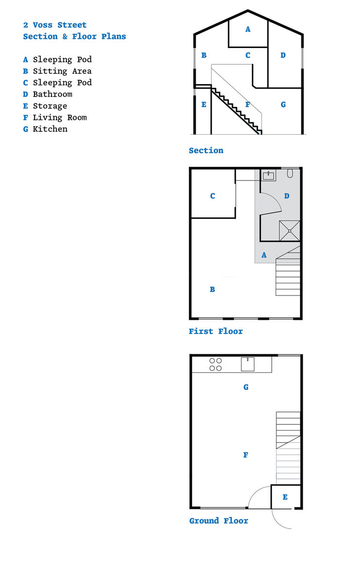2 Voss Street floor plans