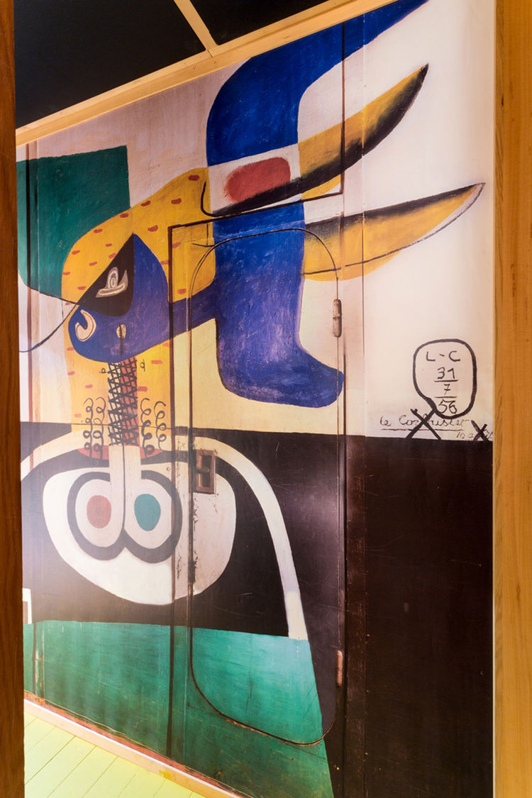 Painted wall mural by Le Corbusier