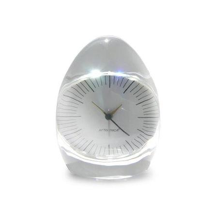 Dada Pressed Glass Clock by Artecnica