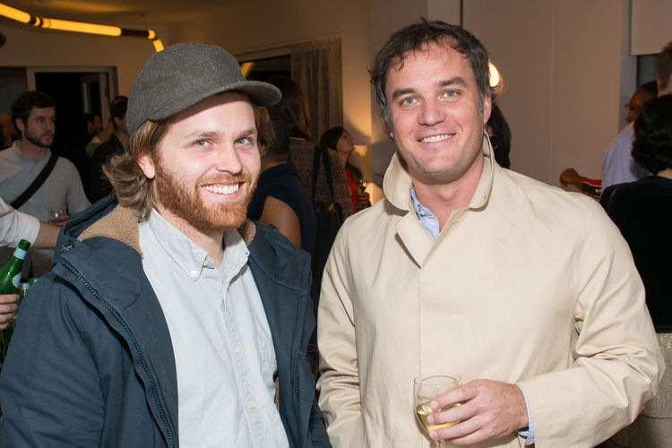 Charles Brill and Jason Miller at Dwell DDG Holiday Party