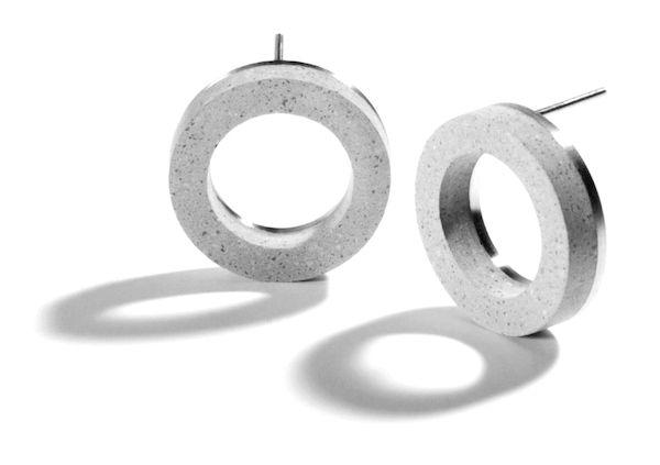 modern Konzuk concrete earrings