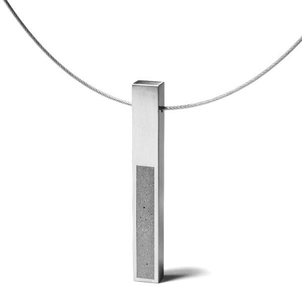 Konzuk modern concrete necklace