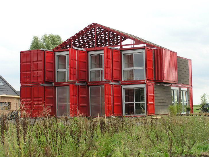 Modern shipping container architecture