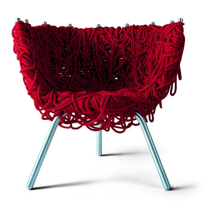 Vermelha Chair by Fernando and Humberto Campana