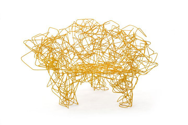 Yellow Corallo chair by Fernando and Humberto Campana