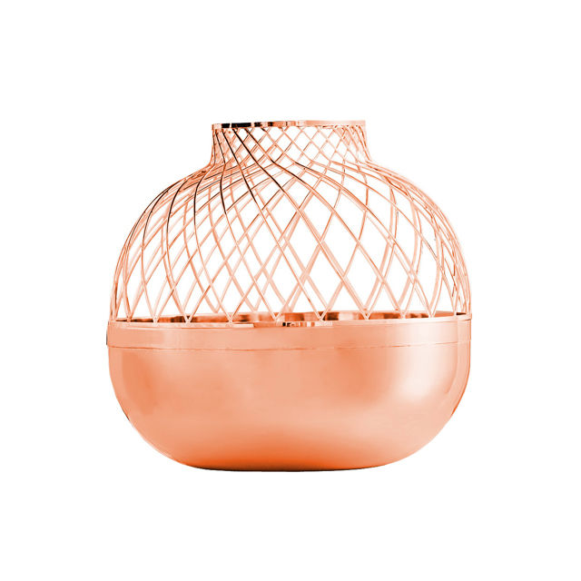 Copper Grid Vases designed by Jaime Hayon for Gaia & Gino