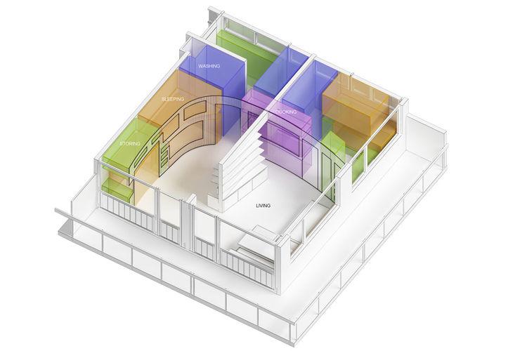 Modern cabin floor plan