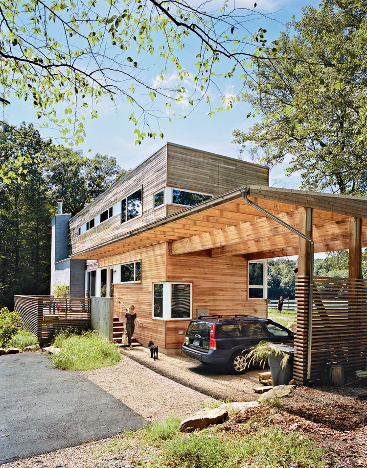 Modern carport in New Jersey