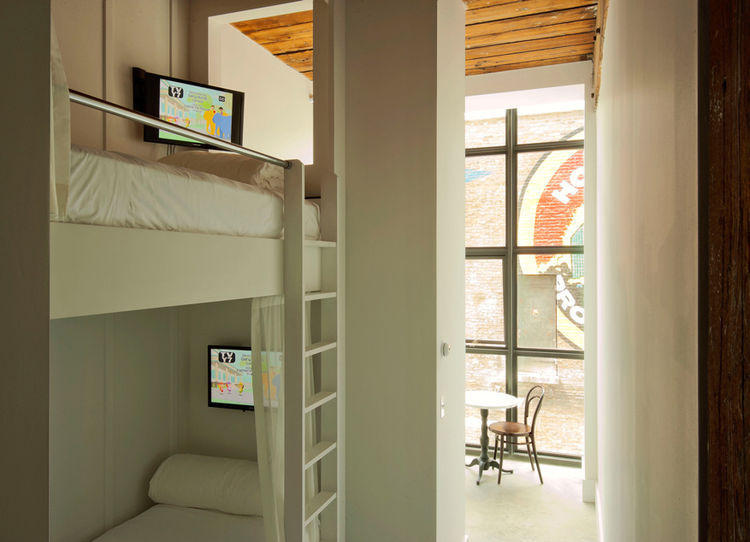 Bunk bed room in Brooklyn's Wythe Hotel