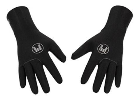 Black wetsuit gloves