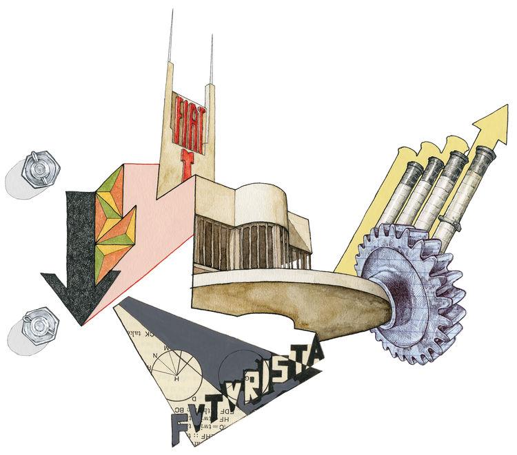 The Futurist Movement Illustration