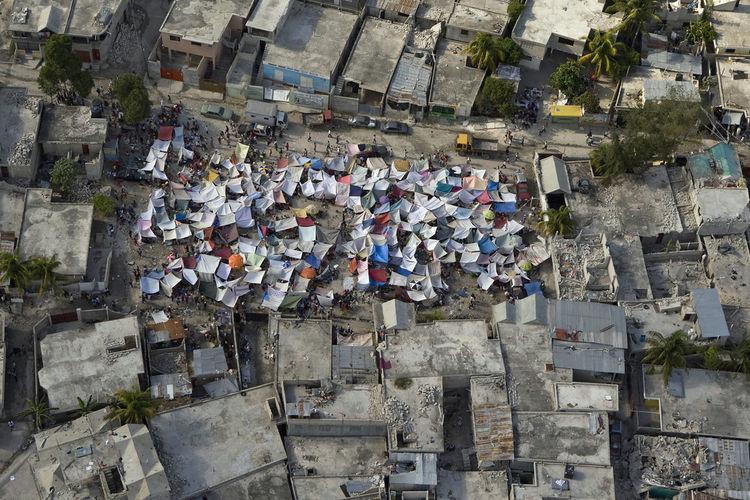 Aerial view of Haiti
