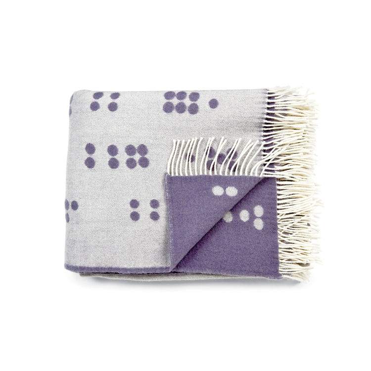 Polka-dot wool throw by RosenbergCpH