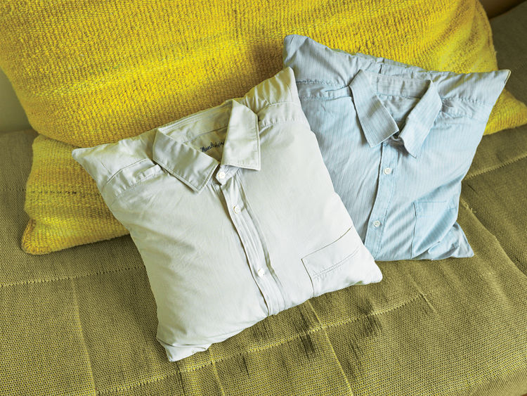 Stuffed shirt throw pillows