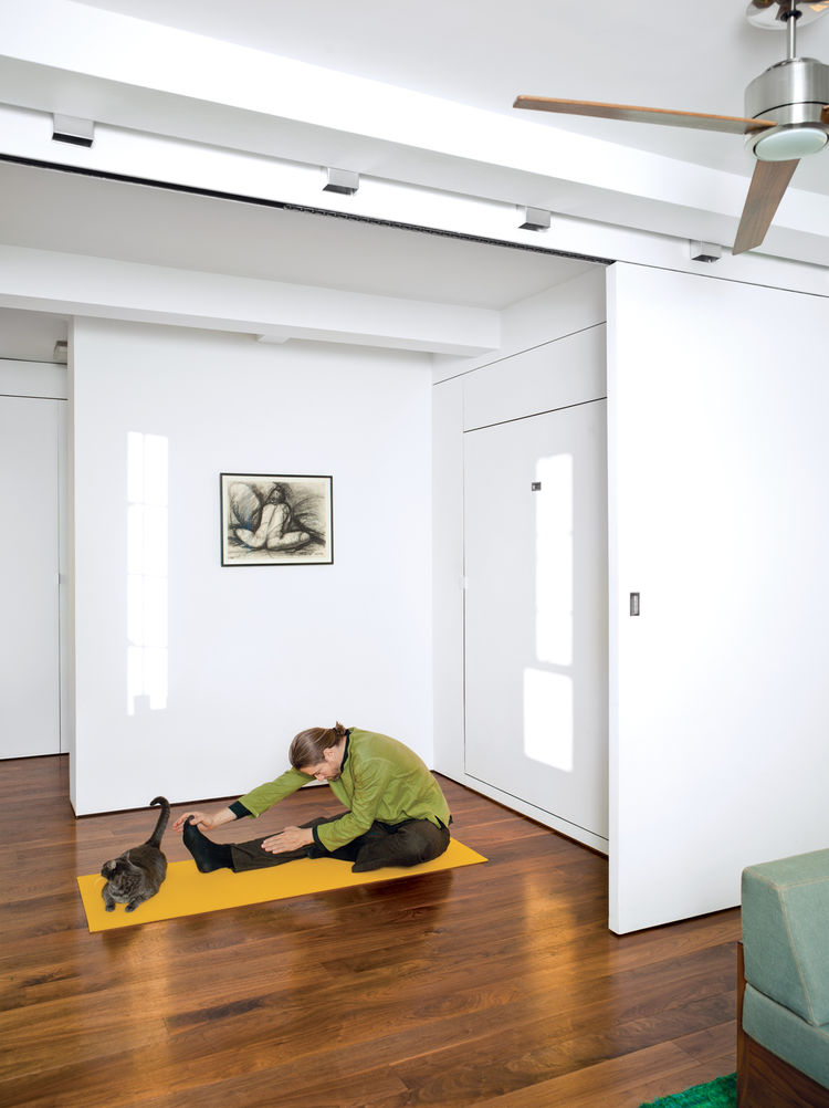 Yoga stretching area in the home