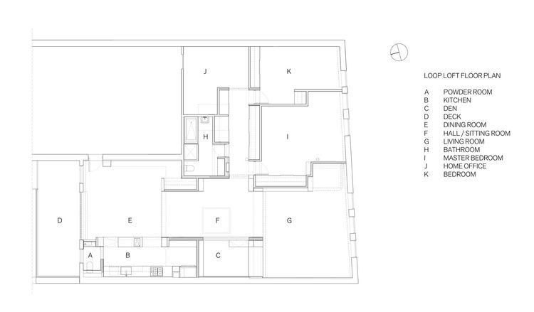 Modern loft renovation in Brooklyn, New York floor plan