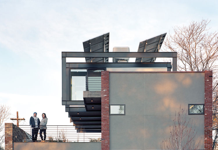 Solar energy house in Denver's Highland neighborhood