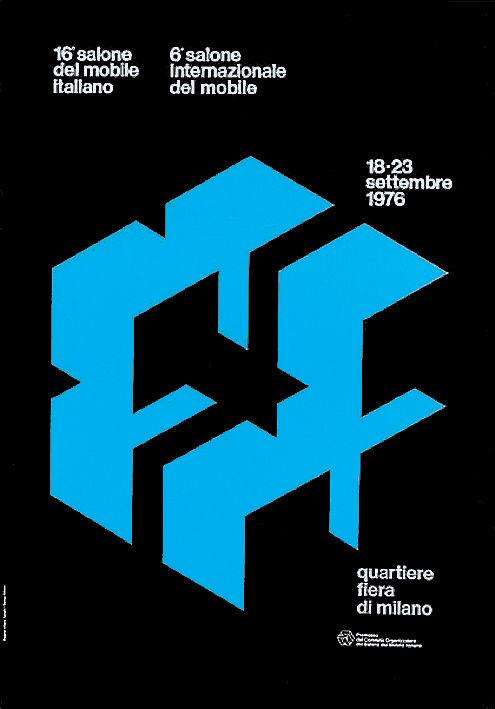 Salone Internazionale del Mobile 1976 Alberto Longhi poster
