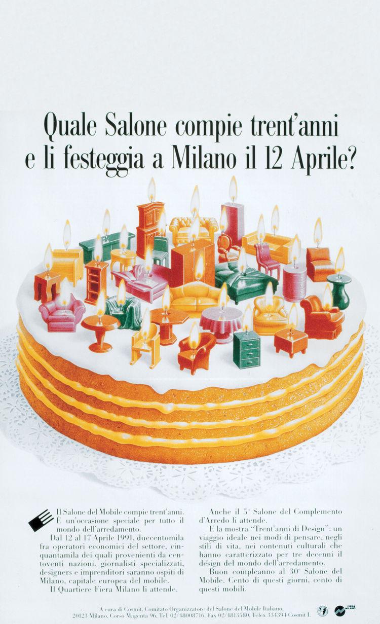 Salone Internazionale del Mobile 1991 Pierluigi Cerri poster