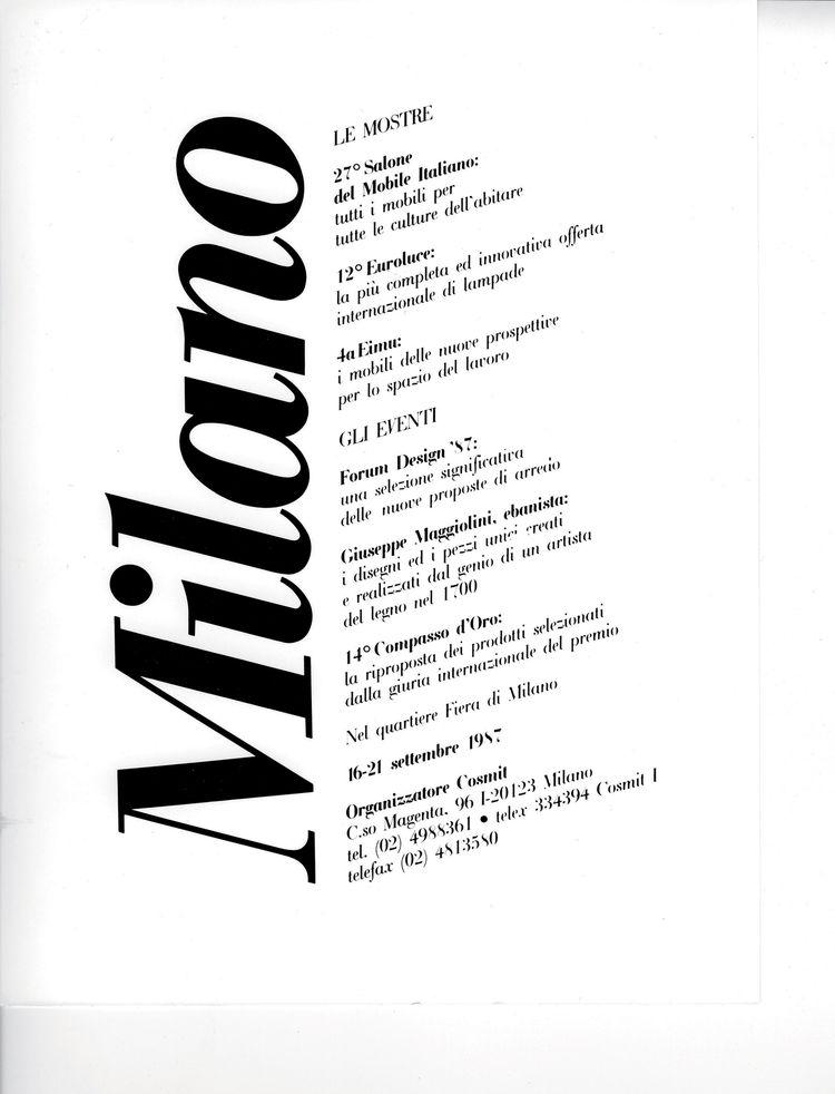 Salone Internazionale del Mobile poster