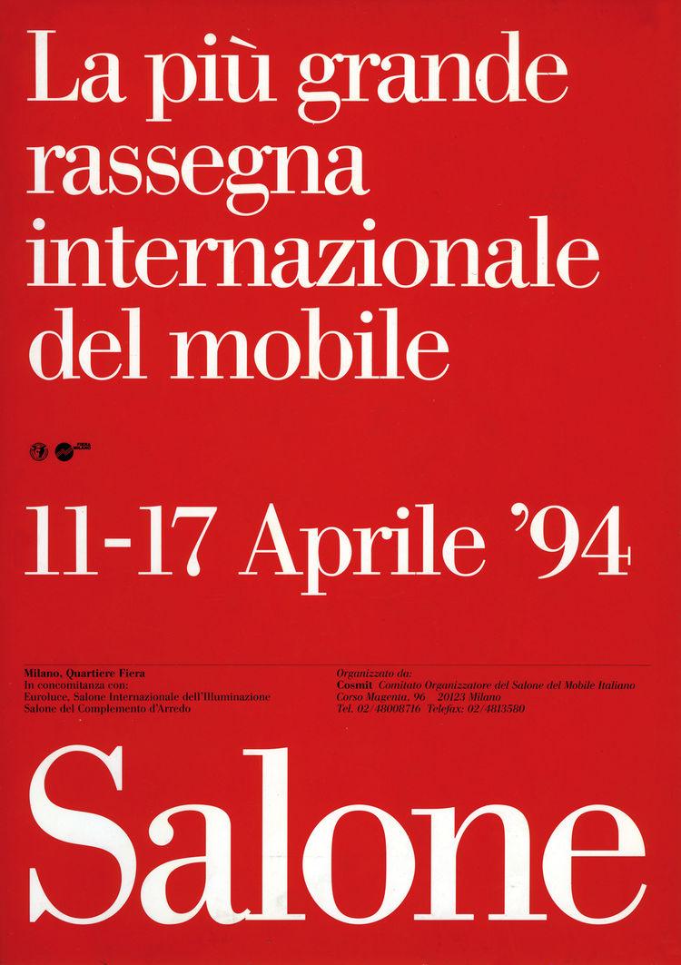 Salone Internazionale del Mobile 1994 poster