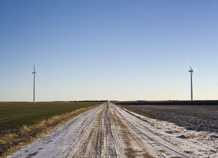 Greensburg, Kansas road side wind turbines