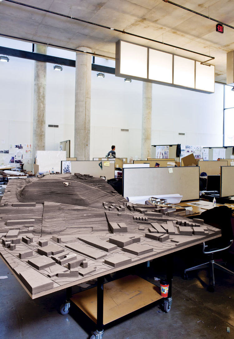 Urban planning model in progress