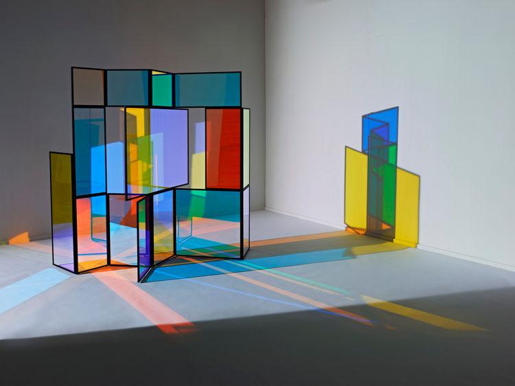 modern multicolored screen