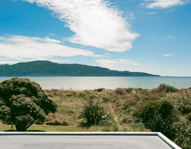Roof top view of Kapiti Island