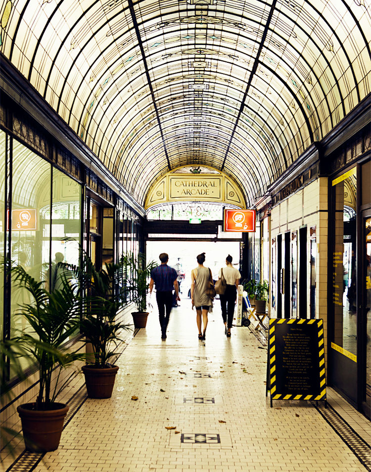 Cathedral Arcade in Melbourne, Australia