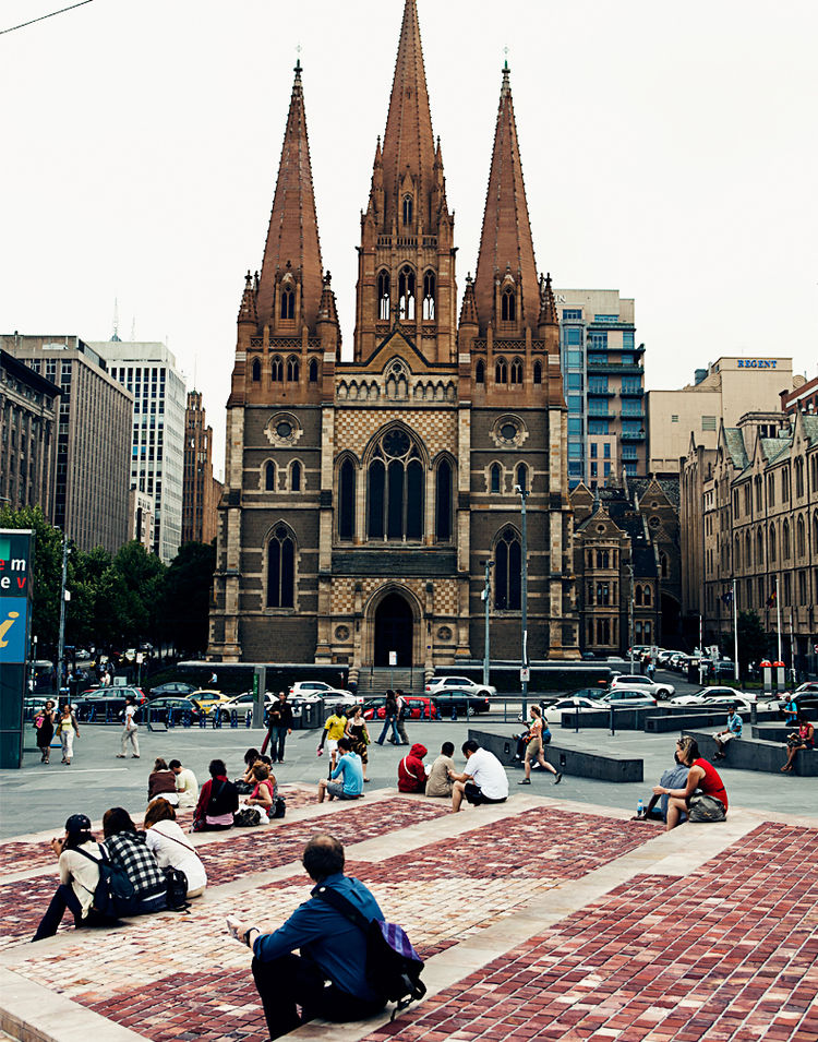 William Butterfield's St. Paul's Cathedral in Melbourne, Australia