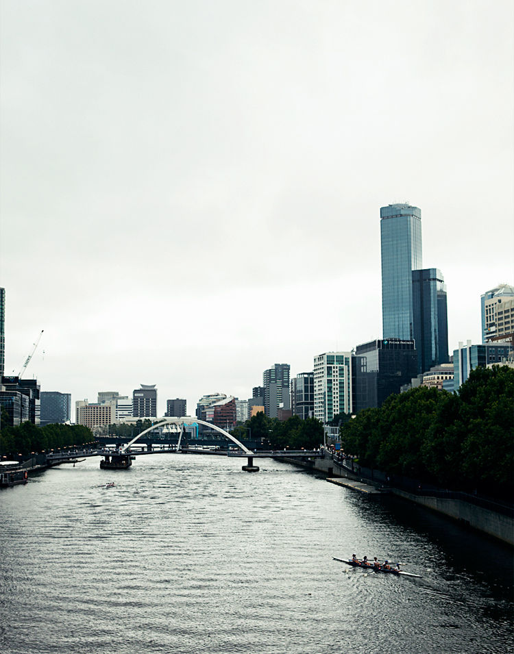 Swanston Bridge in The Yarra River