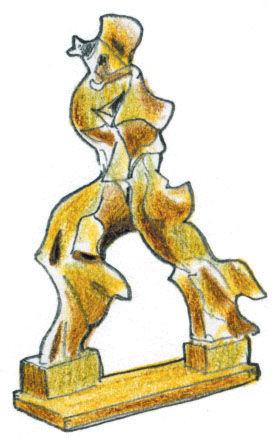Boccioni sculpture illustration