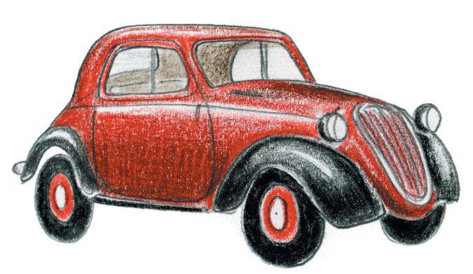 Fiat 500 1936 illustration