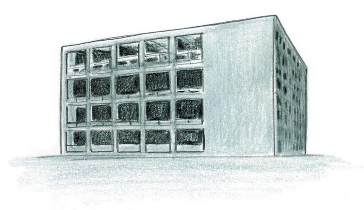 Terragni Casa del Fascio Rationalismo illustration