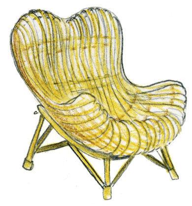 Gala Chair by Franco Albini illustration