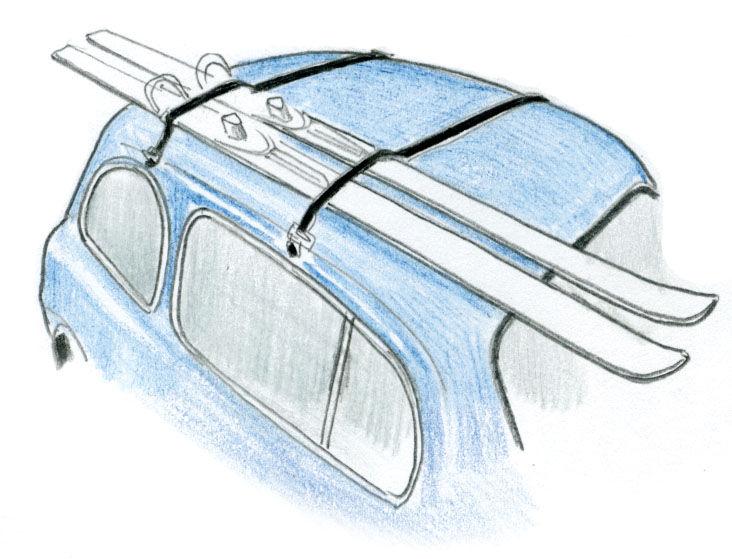 1950 Ski Rack by Kartell illustration