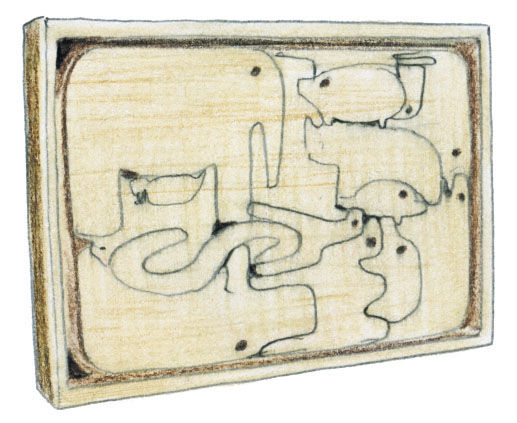 Animali Puzzle by Enzo Mari illustration